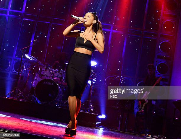 LIVE Chris Pratt Episode 1663 Pictured Musical guest Ariana Grande performs on September 27 2014