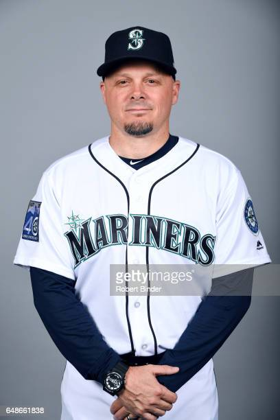 Chris Prieto of the Seattle Mariners poses during Photo Day on Monday February 20 2017 at Peoria Sports Complex in Peoria Arizona