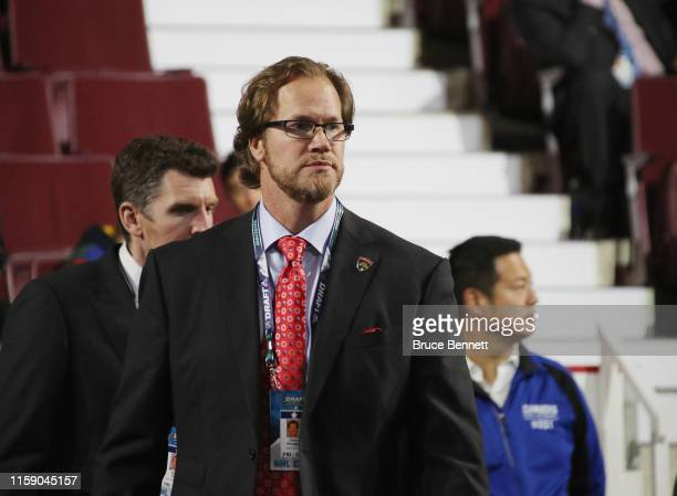 Chris Pronger attends the 2019 NHL Draft at the Rogers Arena on June 22 2019 in Vancouver Canada