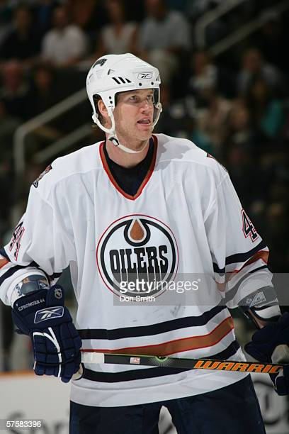 Chris Pronger of the Edmonton Oilers during Game 2 of the Western Conference Semifinals against the San Jose Sharks on May 8, 2006 at the HP Pavilion...