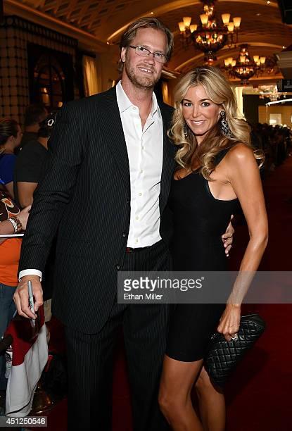 Chris Pronger of the Philadelphia Flyers and his wife Lauren Pronger arrive at the 2014 NHL Awards at Encore Las Vegas on June 24 2014 in Las Vegas...