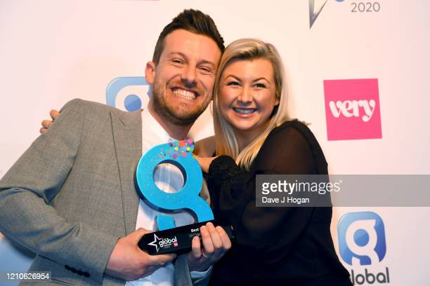 Chris Ramsey and Rosie Ramsey with the award for Best Podcast during The Global Awards 2020 at Eventim Apollo Hammersmith on March 05 2020 in London...