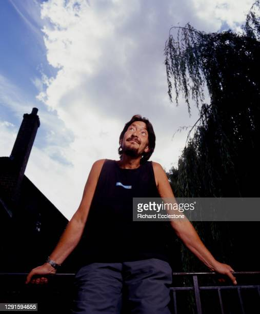 Chris Rea, English singer-songwriter and guitarist, portrait, in his studio in 2005.