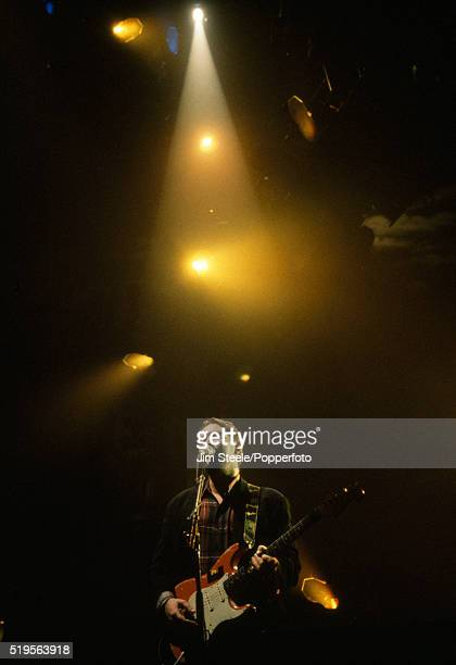 Chris Rea performing on stage at the Wembley Arena in London on the 15th December, 1991.