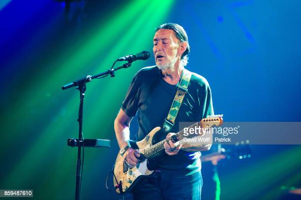 Chris Rea performs at Salle Pleyel on October 9, 2017 in Paris, France.