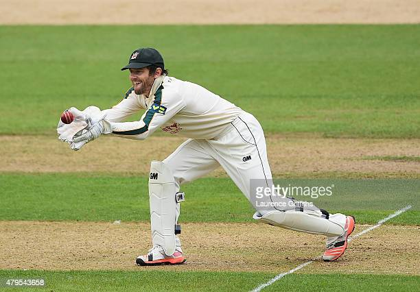Chris Read of Nottinghamshire in action during the LV County Championship match between Nottinghamshire and Middlesex at Trent Bridge on July 5 2015...