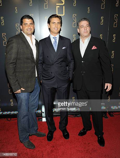 Chris Reda Scott Disick and Brian Gold attend the RYU Restaurant Grand Opening at RYU on April 23 2012 in New York City