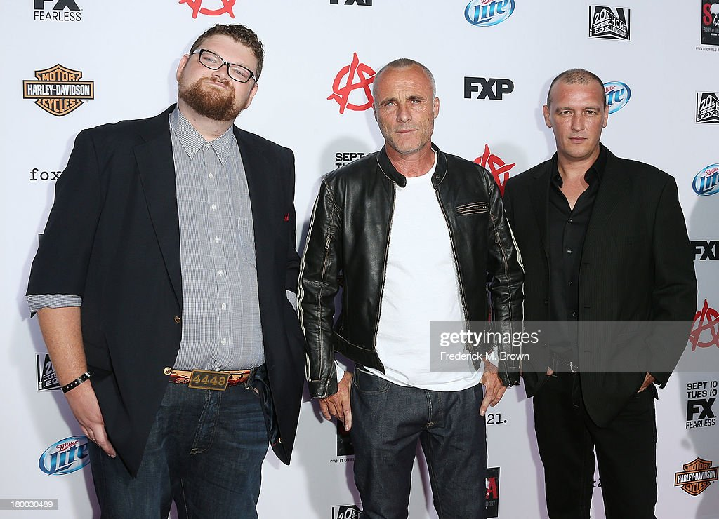 Chris Reed (L) and guest attend the Premiere of FX's 'Sons of Anarchy' Season 6 at the Dolby Theatre on September 7, 2013 in Hollywood, California.
