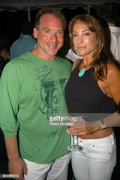 Chris Reinhardt and Diane Gerardi attend Cocktail Party With Steven Schonfeld Celebrating Mindy Greenblatt's Birthday at Watermill on August 19 2006
