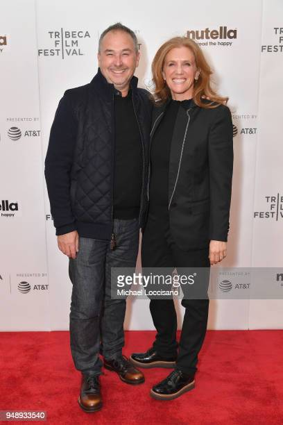 Chris Riess and Director Amy Hill attend the Shorts Program Hula Girl premiere during the 2018 Tribeca Film Festival at Regal Battery Park 11 on...