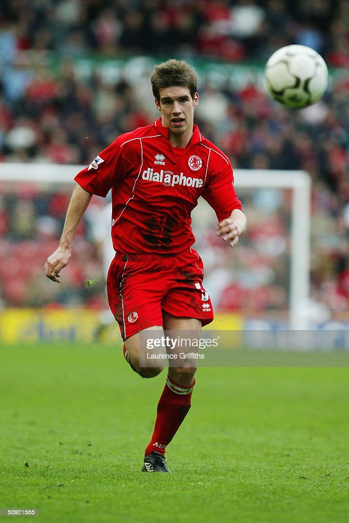 Chris Riggott of Middlesbrough during the FA Barclaycard Premiership match between Middlesbrough and Bolton Wanderers at The Riverside Stadium on April 3, 2004 in Middlesbrough, England.