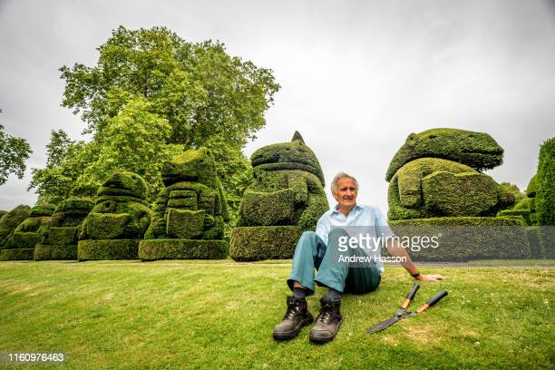 Chris Riley who retired as Head Gardener five years ago from Hall Place Bexley returns once a year as a volunteer to trim the gardens' famous Queens...