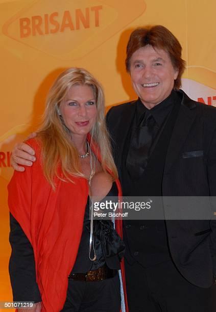 """Chris Roberts, Ehefrau Claudia Roberts, MDR """"Brisant Brillant 2007"""" Verleihung, München, Bayern, Deutschland, Europa, Logo, Preis, roter Teppich,..."""