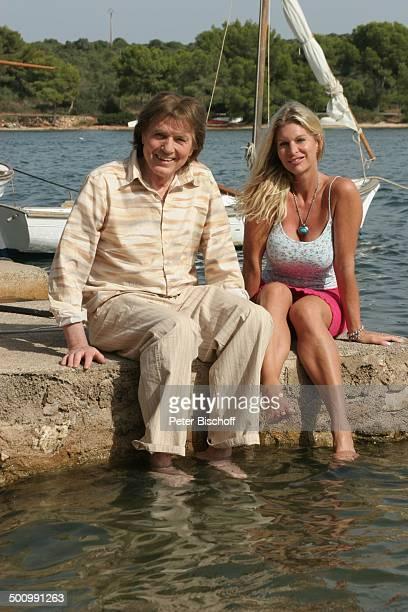 Chris Roberts, Ehefrau Claudia Roberts, Urlaub, Puerto Colom/Mallorca/Spanien, , Balearen, Meer, Mittelmeer, Sänger, Sängerin, Ehemann, Familie,...