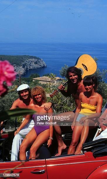 Chris Roberts Lebensgefährtin Ilse Bauer Peter Rubin Ehefrau Regina Mallorca/Spanien Auto Cabrio SchlagerSänger