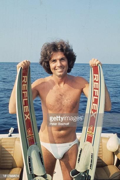 Chris Roberts Urlaub Insel Mallorca Balearen Spanien Motorboot fahren Meer Mittelmeer WasserSki Badehose SchlagerSänger SP/NB