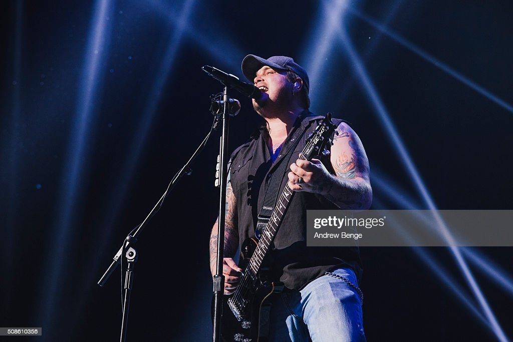 Chris Robertson of Black Stone Cherry performs at First Direct Arena on February 5, 2016 in Leeds, England.