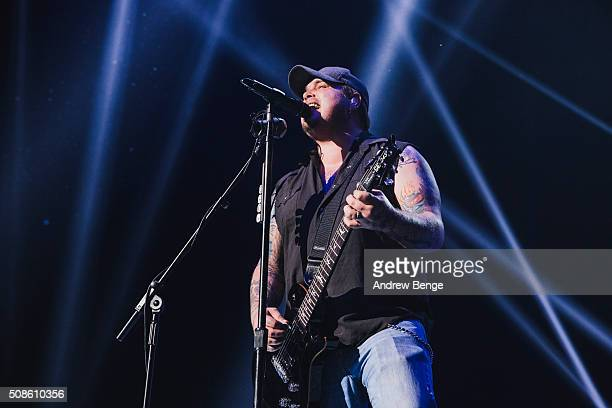 Chris Robertson of Black Stone Cherry performs at First Direct Arena on February 5 2016 in Leeds England