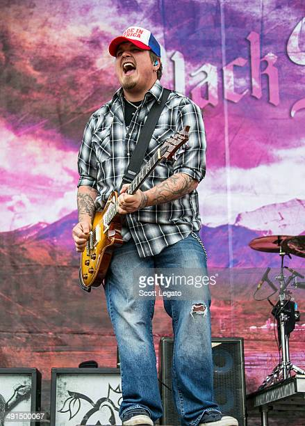 Chris Robertson of Black Stone Cherry performs during 2014 Rock On The Range at Columbus Crew Stadium on May 16, 2014 in Columbus, Ohio.