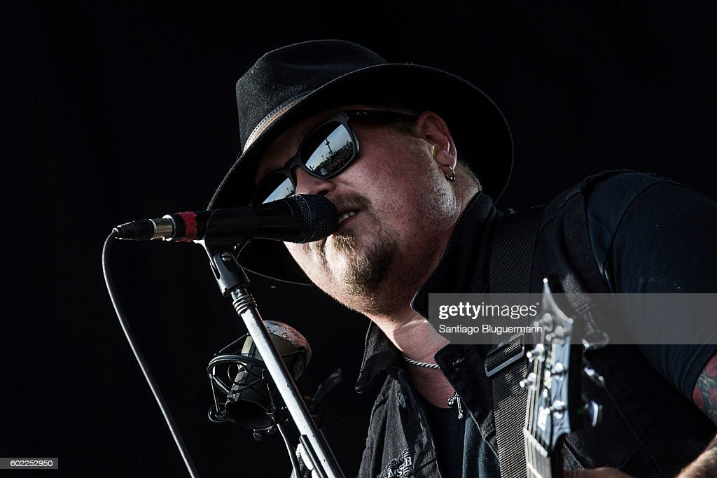Chris Robertson of Black Stone Cherry performs during a show as part of the Maximus Festival at Parque de la Ciudad on September 10, 2016 in Buenos Aires, Argentina.
