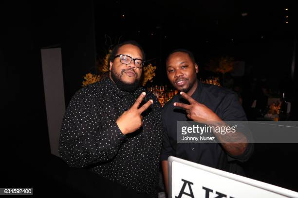 Chris Robinson and DJ Aktive attend the Annual PreGrammy Reception hosted by Ted Reid at STK on February 9 2017 in Los Angeles California