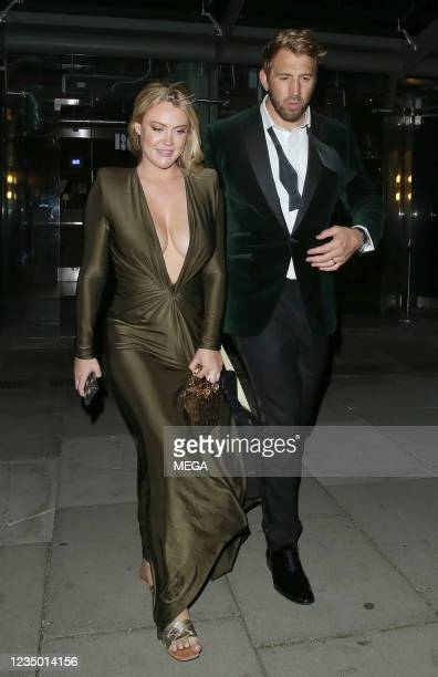 Chris Robshaw and Camilla Kerslake are seen leaving The GQ Men Of The Year Awards After Party held at 180 The Strand on September 2 2021 in London,...