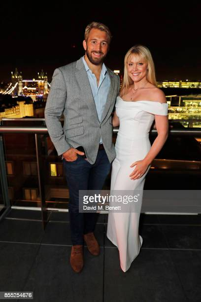 Chris Robshaw and Camilla Kerslake attend the launch of Ten Trinity Square Private Club on September 28 2017 in London England