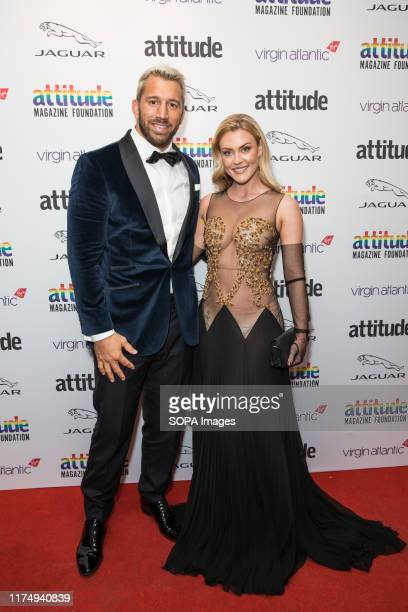 Chris Robshaw and Camilla Kerslake attend the Virgin Atlantic Attitude Awards 2019 powered by Jaguar at The Roundhouse Camden.
