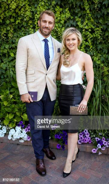 Chris Robshaw and Camilla Kerslake attend Wimbledon 2017 on July 7 2017 in London United Kingdom