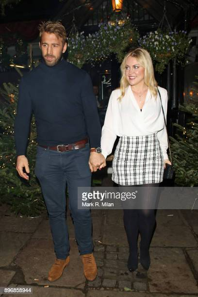 Chris Robshaw and Camilla Kerslake attending Piers Morgans Christmas party at the Scarsdale Tavern on December 21 2017 in London England