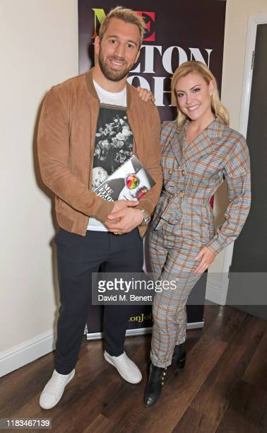 Chris Robshaw and Camilla Kerslake celebrate the publication of Sir Elton's autobiography Me in conversation with David Walliams at the Eventim...