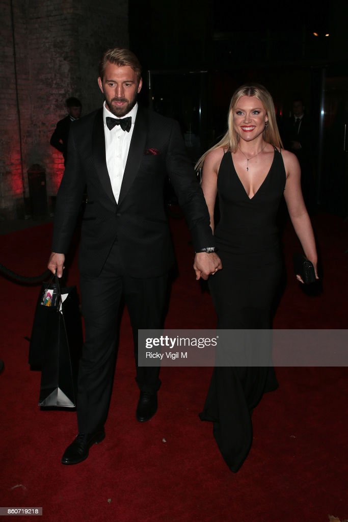 Chris Robshaw and Camilla Kerslake seen attending Attitude Magazine Awards at Roundhouse on October 12, 2017 in London, England.