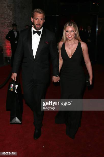 Chris Robshaw and Camilla Kerslake seen attending Attitude Magazine Awards at Roundhouse on October 12 2017 in London England