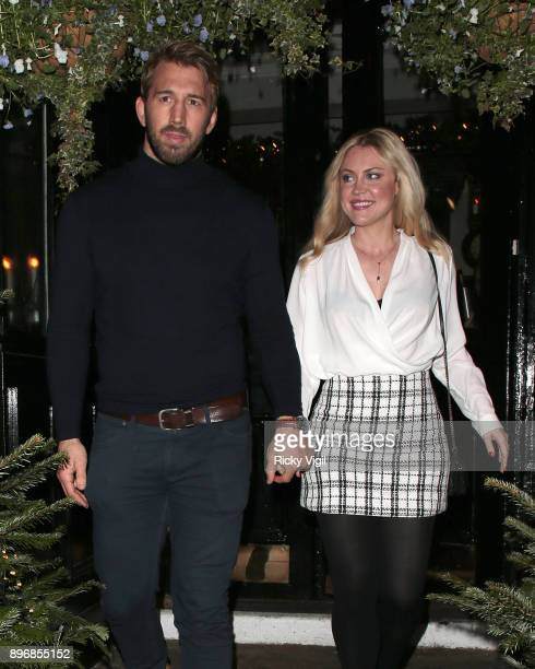 Chris Robshaw and Camilla Kerslake seen attending Piers Morgan Christmas party at Scarsdale Tavern on December 21 2017 in London England