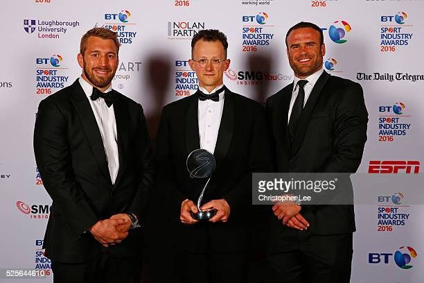 Chris Robshaw and Jamie Roberts present the Community Programme of the Year award in association with the Supporters Club to GoodGym at the BT Sport...