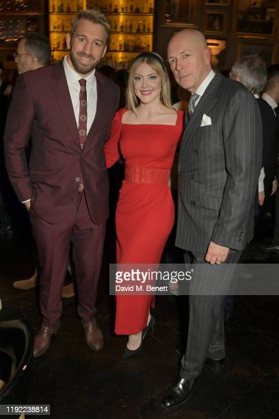 Chris Robshaw Camilla Kerslake and Editor of GQ Dylan Jones attend the British GQ dinner cohosted by Dylan Jones Jack Guinness in partnership with...