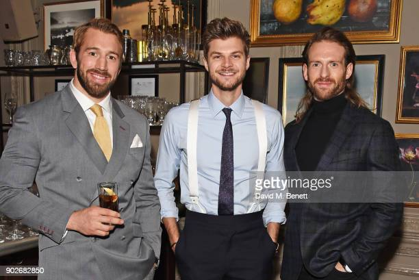 Chris Robshaw Jim Chapman and Craig McGinlay attend the GQ London Fashion Week Men's 2018 closing dinner hosted by Dylan Jones and Rita Ora at...