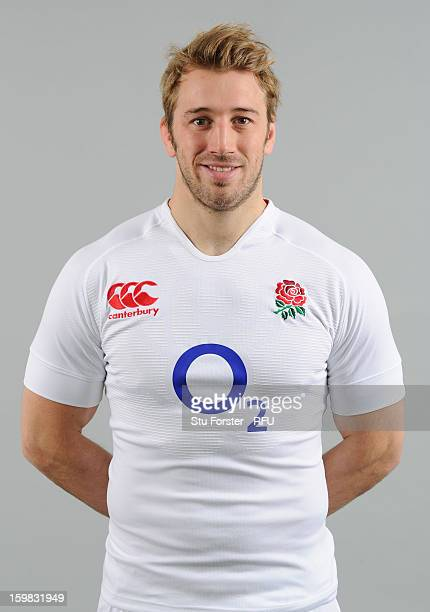 Chris Robshaw of England poses for a portrait during the England rugby union squad photo call at Weetwood Hall on January 21, 2013 in Leeds, England.