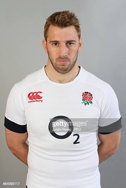 Chris Robshaw of England poses for a portrait during the England Six Nations Squad Photo Call at the Penny Hill Hotel on January 20 2014 in Bagshot...