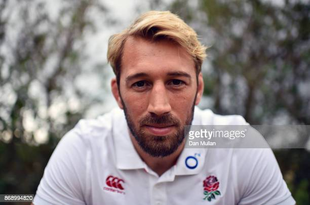 Chris Robshaw of England poses for a portrait following a press conference at Browns Sport Leisure Club on November 1 2017 in Vilamoura Portugal