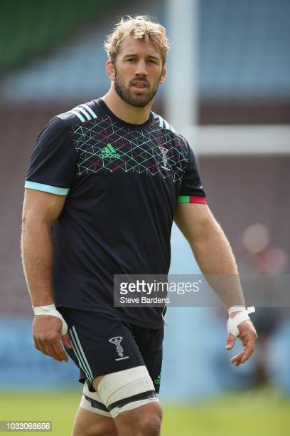 Chris Robshaw of Harlequins during the captain's run at Twickenham Stoop on September 14 2018 in London England