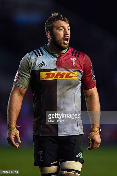Chris Robshaw of Harlequins looks on during the European Rugby Challenge Cup match between Harlequins and Cardiff Blues at Twickenham Stoop on...