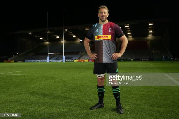 Chris Robshaw of Harlequins poses for a portrait on the pitch after his last home match as a Harlequin after the Gallagher Premiership Rugby match...