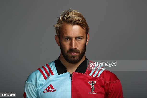 Chris Robshaw of Quins poses for a portrait during the Harlequins photocall for the 2017-2018 Aviva Premiership Rugby season at The Stoop on August...