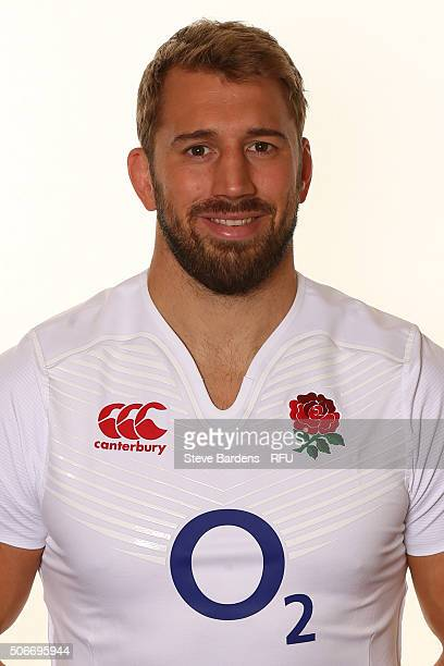 Chris Robshaw poses during the England EPS Six Nations Squad Portrait session at Pennyhill Park on January 25 2016 in Bagshot England