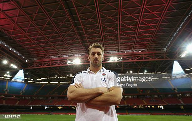 Chris Robshaw the England captain poses after the England captain's run at the Millennium Stadium on March 15 2013 in Cardiff Wales