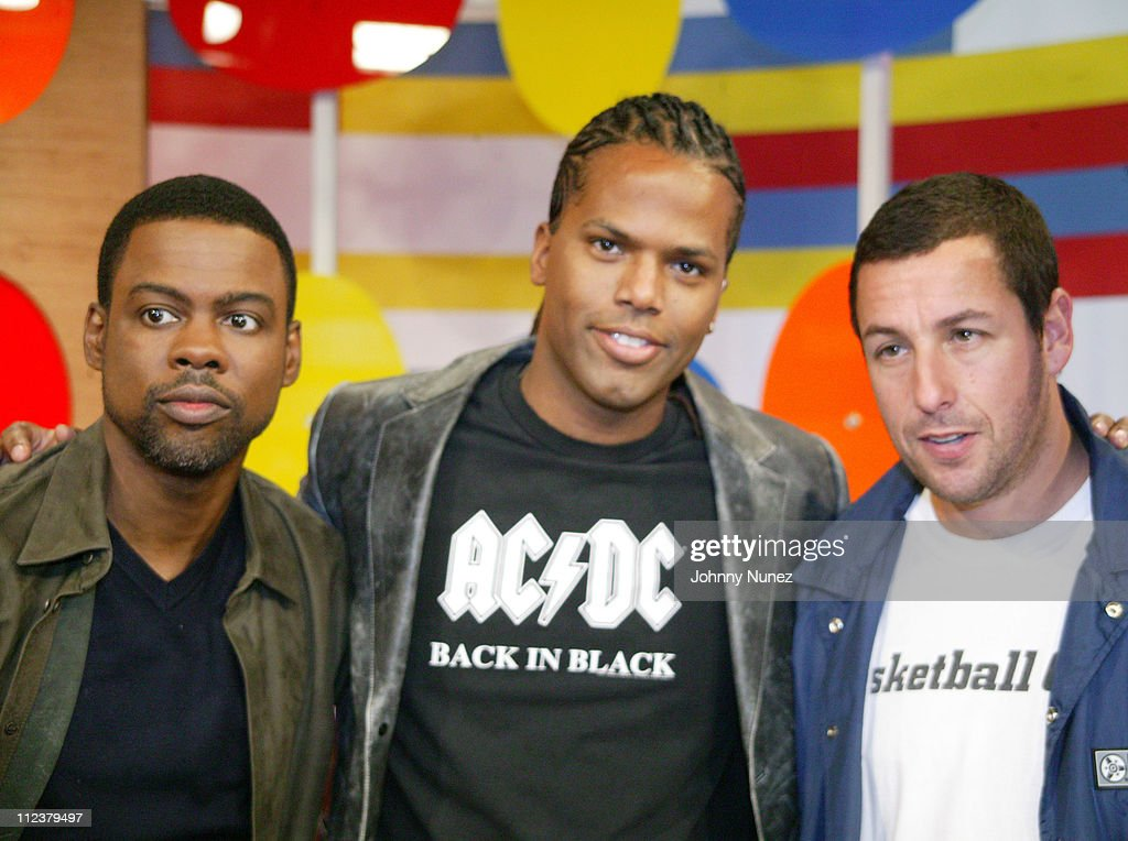 "Chris Rock and Adam Sandler Visit BET's ""106 & Park"" - May 26, 2005"