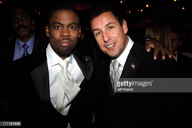 Chris Rock and Adam Sandler during The 77th Annual Academy Awards Governors Ball at Kodak Theatre in Los Angeles California United States