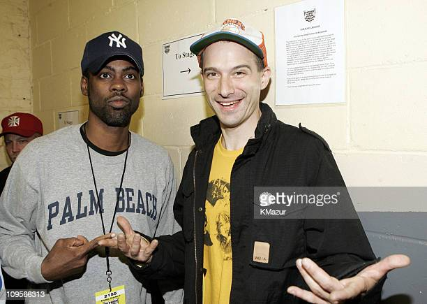 Chris Rock and Adam Yauch of Beastie Boys during 2004 VH1 Hip Hop Honors Audience and Backstage at Hammerstein Ballroom in New York City New York...