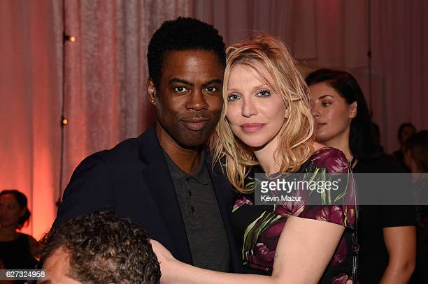 Chris Rock and Courtney Love attend An Evening of Music, Art, Mischief and Performance to benefit Raising Malawi presented by Madonna at Faena Forum...